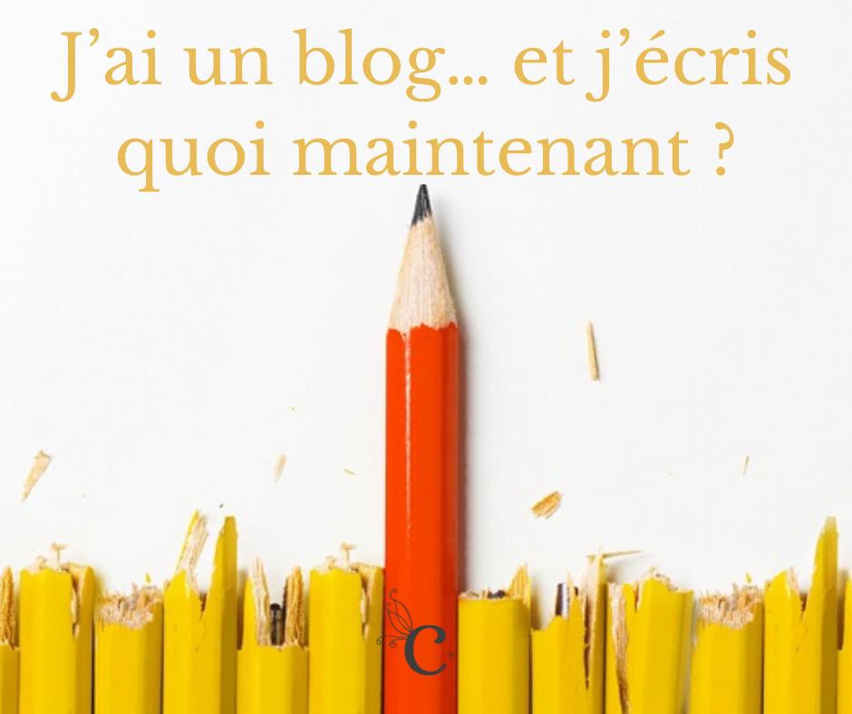 J'ai un blog… et j'écris quoi maintenant ?