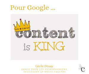 Pour Google, «content is King» !