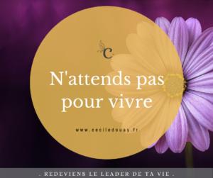 Read more about the article N'attends pas pour vivre