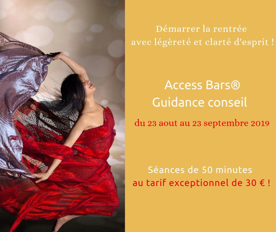 Promo de rentrée : Access Bars® et guidance conseil au tarif exceptionnel de 30€