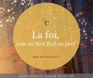 LA FOI, C'EST DU RED BULL EN PERF'