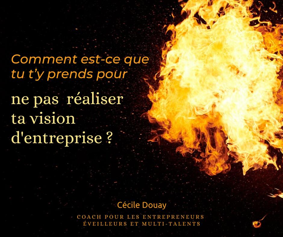 Comment est-ce que tu t'y prends pour ne pas réaliser ta vision d'entreprise ?
